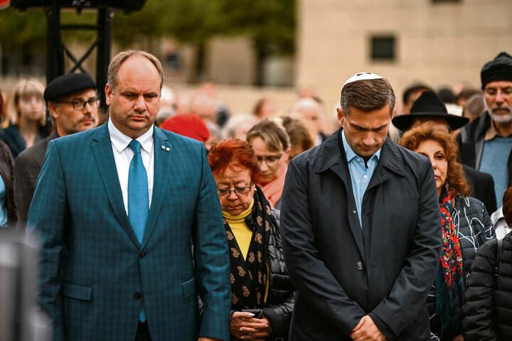 Oberbürgermeister Dirk Hilbert (47, FDP) und Vize-Ministerpräsident Martin Dulig (45, SPD).