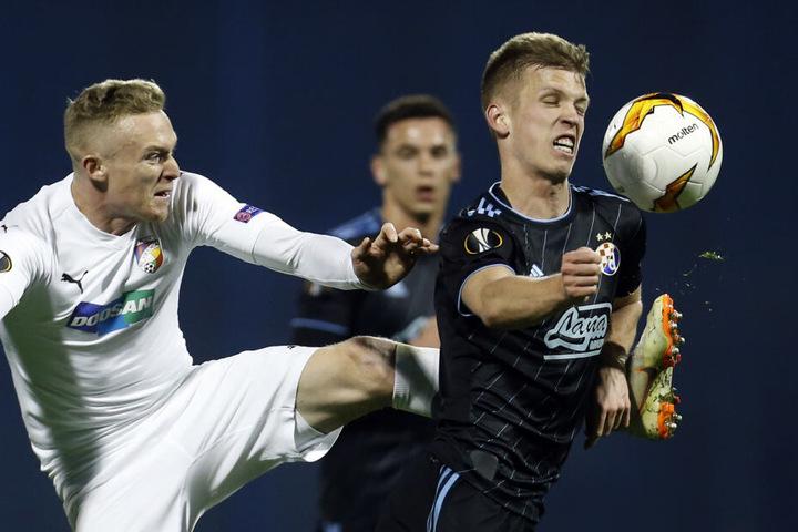 Billig wird der Mann von Dinamo Zagreb allerdings nicht. Demnach bieten die Roten Bullen 16 Millionen plus Bonuszahlungen für Olmo (r.).
