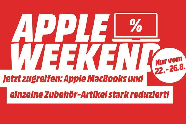 Apple Weekend: Bis einschließlich Montag bekommt Ihr bei MediaMarkt MacBooks und das passende Zubehör besonders günstig!