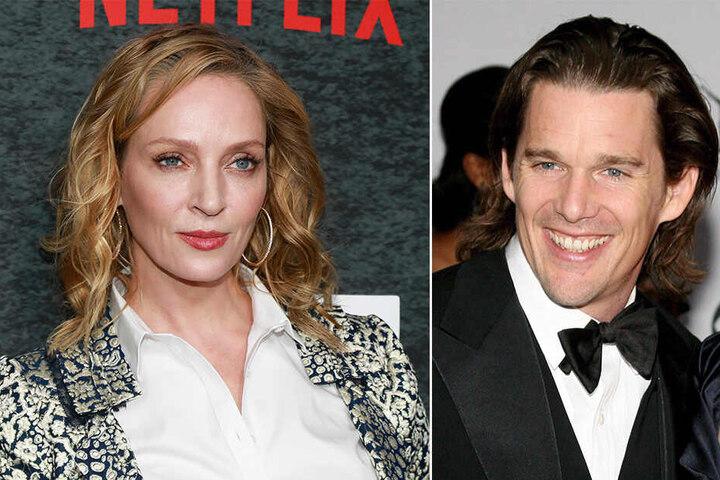 Mayas prominente Eltern: Die US-amerikanische Schauspielerin Uma Thurman und Hollywood-Star Ethan Hawke.