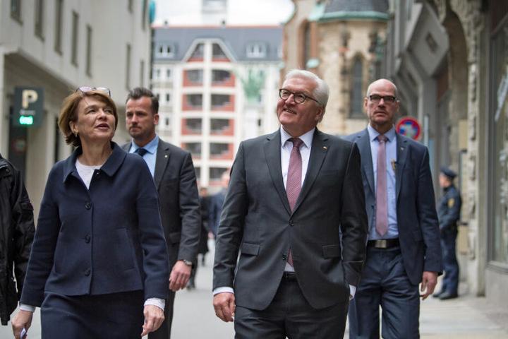 Frank-Walter Steinmeier und seine Frau Elke statteten Leipzig einen Besuch ab.