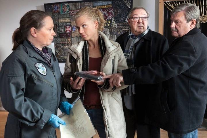 """Als Kriminaltechnikerin Rosamunde Weigand spielte Marie Gruber in über 40 Folgen der Fernsehserie """"Polizeiruf 110"""" mit."""
