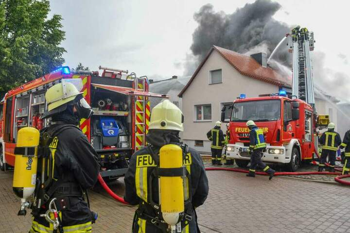 Brand eines Hauses in Leitzkau.