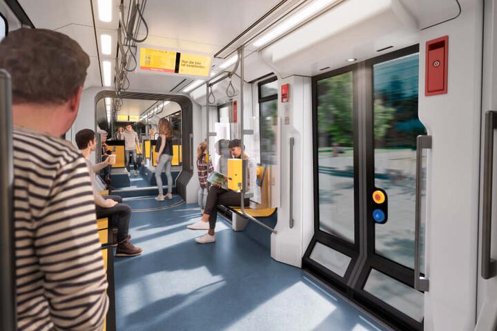 Die neuen Bahnen bieten mehr Platz - und sind klimatisiert.