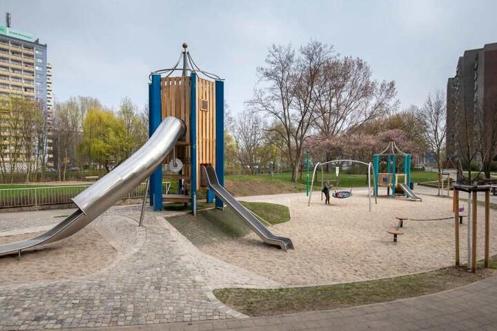 Auch der Spielplatz am Falkeplatz erhielt eine Frischekur.