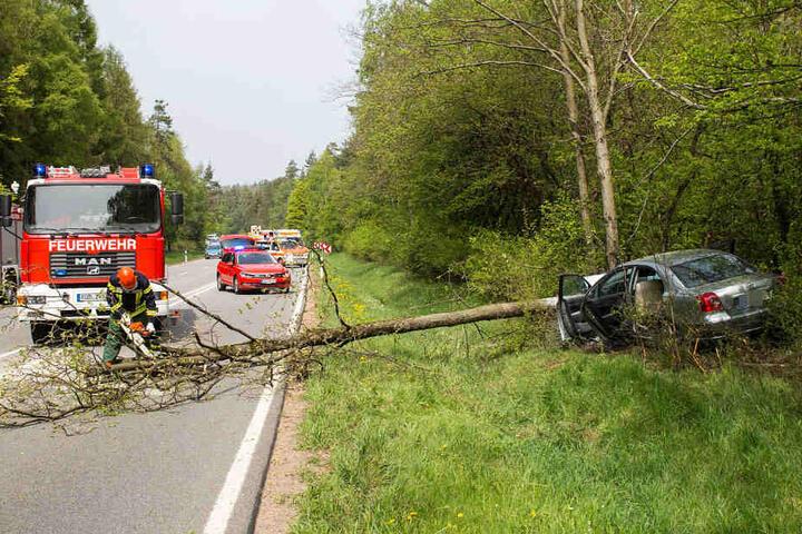 Die Bundesstraße 417 musste vorübergehend gesperrt werden.