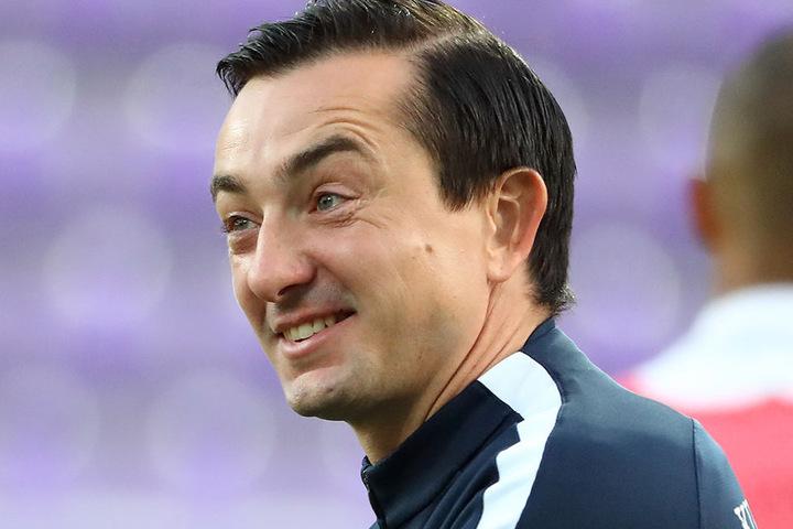 Freut sich auf seinen späten Neuzugang Florian Krüger: FCE-Trainer Daniel Meyer.