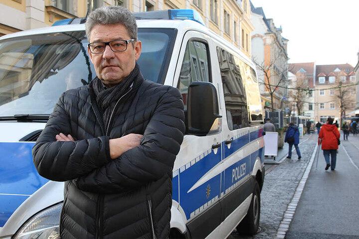 Stinksauer: Pirnas OB Klaus-Peter Hanke (65, parteilos).