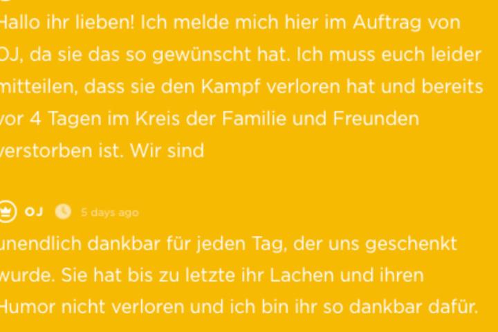 Schließlich verstarb die Paderbornerin.