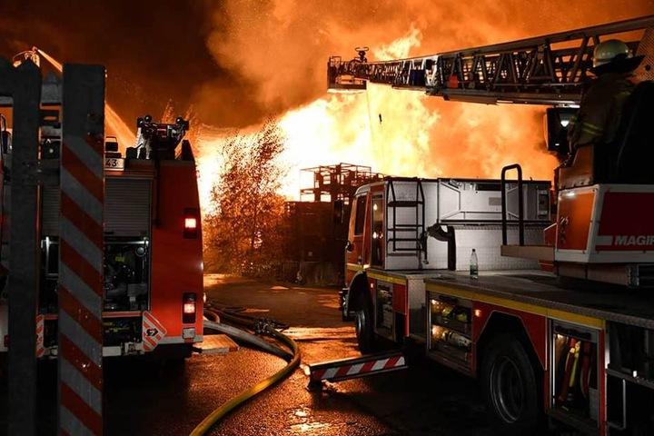 Die Feuerwehr war mit 120 Kameraden im Einsatz.