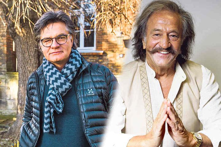 Entertainer Karl-Heinz Bellmann (li, 71) lädt wieder auf den Luisenhof - auch Peter Escher (64) wird befragt.