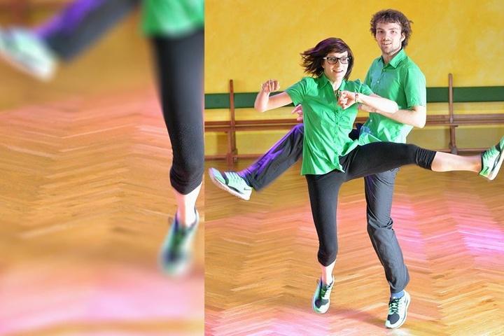 Die 4. Generation: Luisa trainiert mit Maximilian. Jaquelines Tochter ist im Solo-Jumpstyle zweifache Deutsche Meisterin.