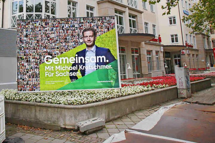 Die Zentrale der Landes-CDU an der Fetscherstraße in Dresden.