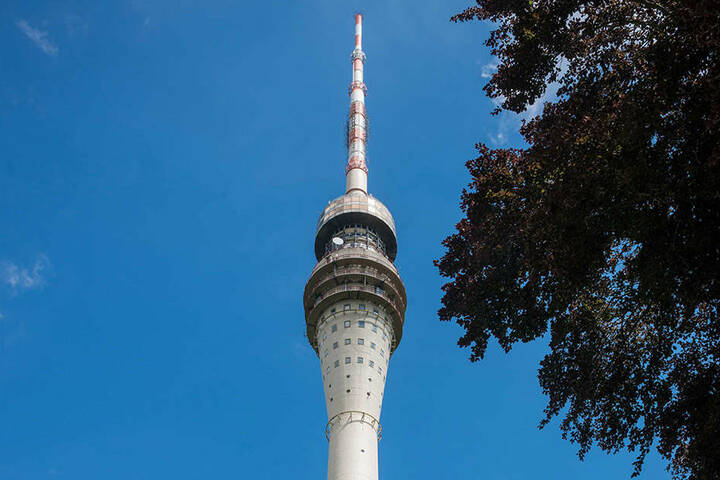 Der Fernsehturm in Dresden.