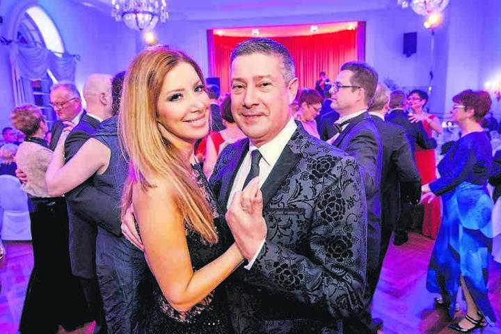 """""""Let´s dance"""" Juror und Moderator Joachim Llambi (54) brachte seine Freundin Rebecca (37) mit nach Meißen."""