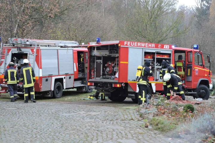 Die Einsatzkräfte simulierten den Unfall.