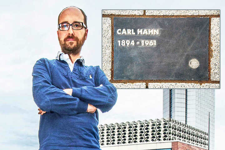 Nico Brünler (Linke) fordert, dass die Ehrentafel für Carl Hahn wieder  entfernt wird.