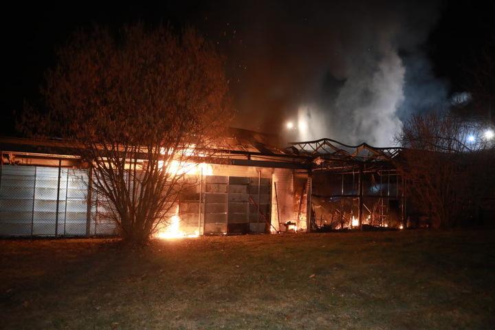 Als die Feuerwehr eintraf, standen Teile des Marktes bereits in Flammen.