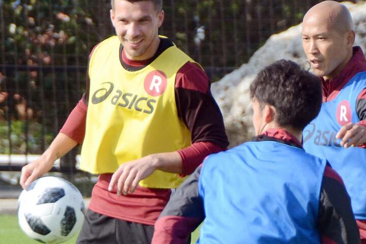 Lukas Podolski steht bei Vissel Kobe unter Vertrag.