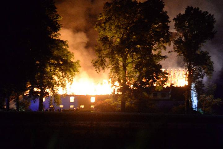 Der gesamte Hof brannte in diesem Inferno ab.