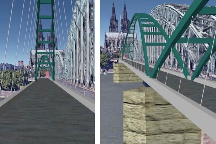 Der favorisierte Entwurf ist eine Bogenbrücke. Die Kosten für das gesamte Vorhaben liegen bei geschätzten 58 Millionen Euro.