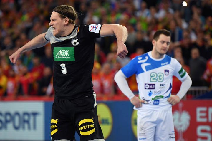 Tobias Reichmann verwandelte den Strafwurf zum 25:25-Endstand.