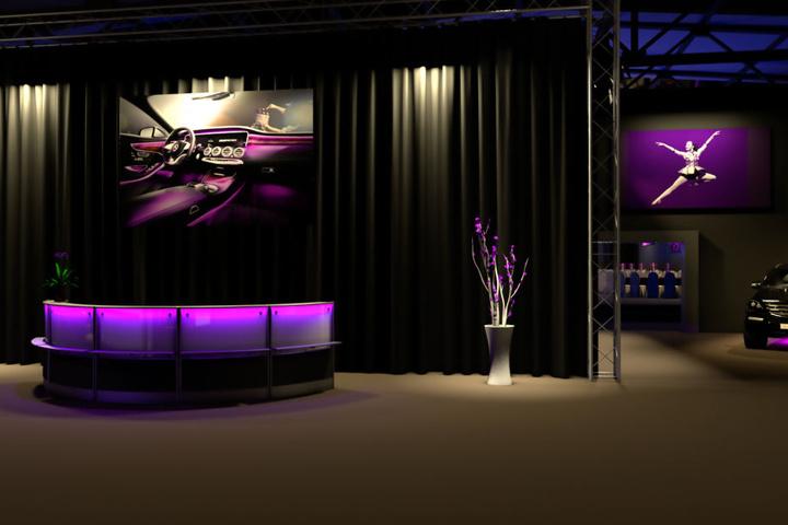 Erste Einblicke ins Foyer, animiert am Computer.
