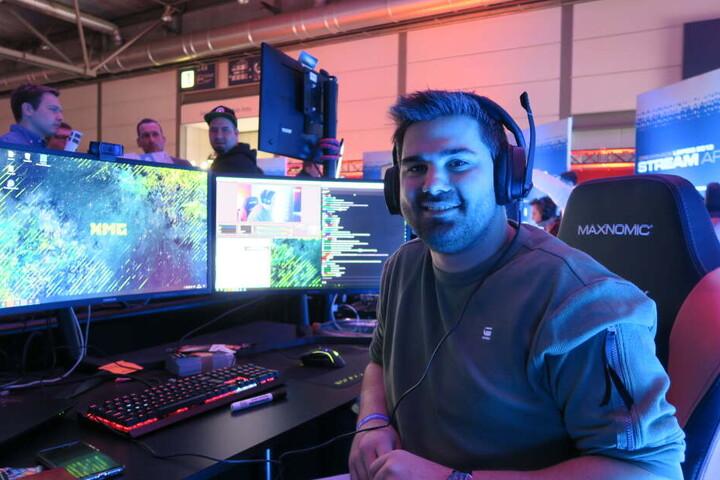 Jeff ist einer der 43 Streamer, die über das gesamte Wochenende live von der Dreamhack berichten.