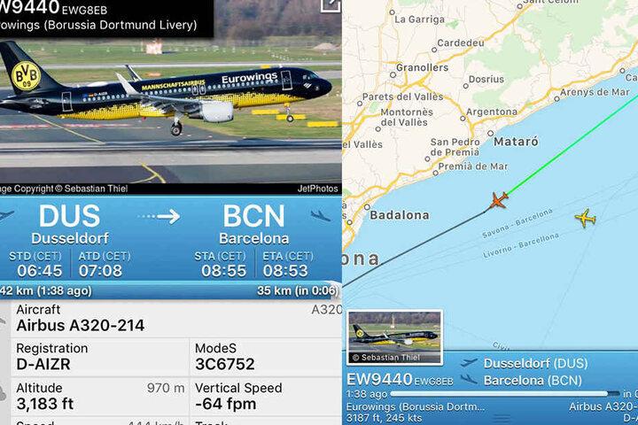 Tim Latka flog mit EW9440 von Düsseldorf nach Barcelona.