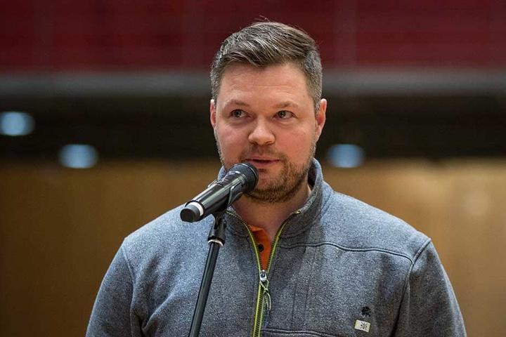 Ex-Capo Stefan Lehmann hielt vor der Wahl eine Rede.