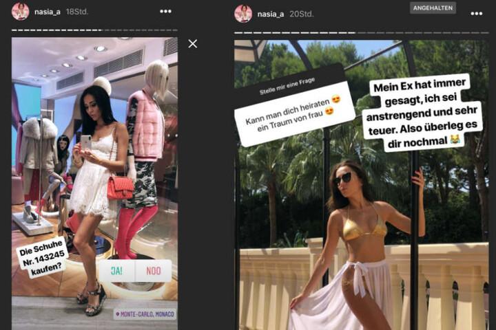 Sie steht zu ihren Fehlern und nimmt sich selbst auf die Schippe: Anastasiya in ihrer Instagram-Story.
