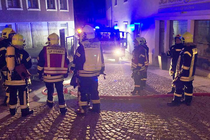 Die Feuerwehren aus Annaberg, Buchholz und Frohnau waren im Einsatz.