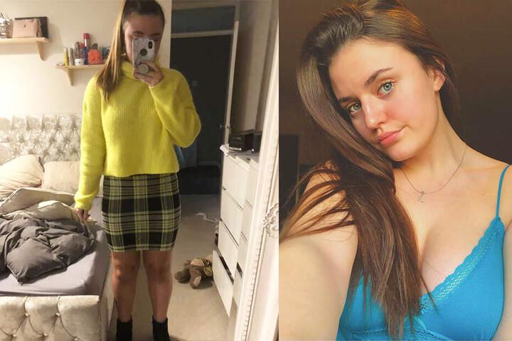 Lillie Cattell zeigt sich auf Facebook-Selfies sehr viel freizügiger, als in ihrem Praktikums-Outfit (links).