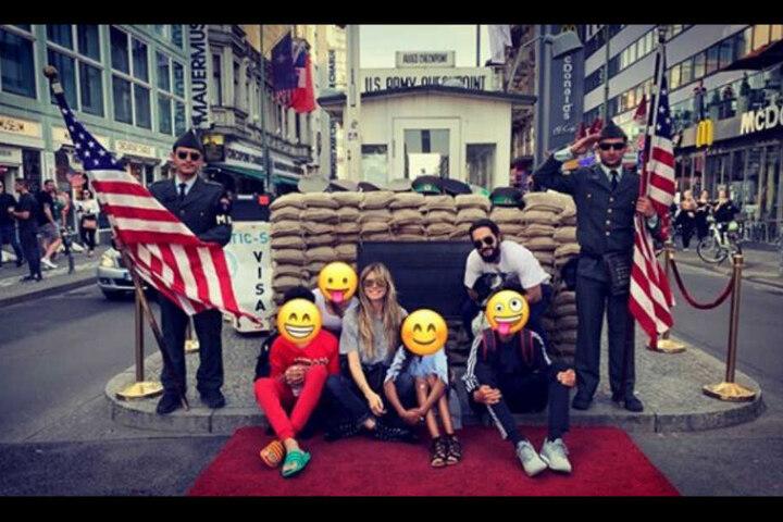 Auf Heidis Instagram-Account legt sie Emojis über die Gesichter ihrer Kinder, um sie unkenntlich zu machen.