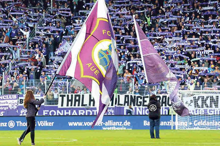 Das Erzgebirgsstadion wird erstmals in dieser Saison ausverkauft sein. Noch passen nur 10.000 Fans rein, bald sind es 16.400.