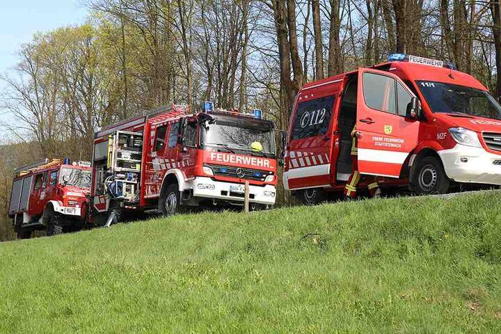 Mit einem Großaufgebot waren Rettungskräfte vor Ort.
