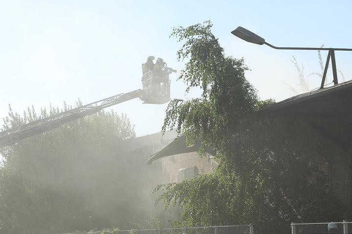 Von oben wurde der Brand gelöscht.