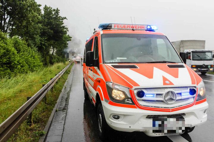 Die Einsatzkräfte der Feuerwehr hatten den Brand schnell unter Kontrolle.