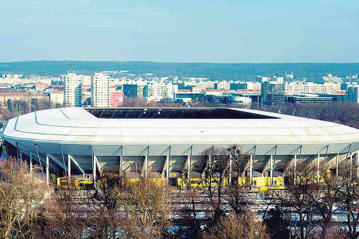 So sieht das bekannte Stadion  heutzutage aus.