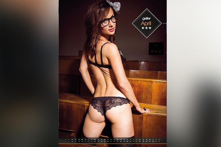 Jane (28) studiert Werkstoffwissenschaft an der TU Dresden. Tagsüber lauscht  sie im Hörsaal den Profs, am Abend musste der Campus mal für ein erotisches  Fotoshooting dienen.