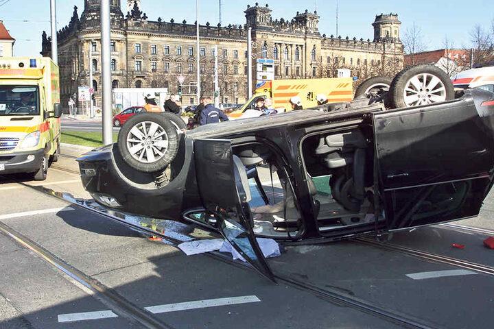 37 Mal krachte es vergangenes Jahr auf dem Pirnaischen Platz. Er steht als  Unfallschwerpunkt auf Platz 1.
