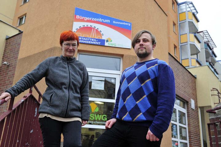 Elke Koch (65) gibt nach zehn Jahren den Staffelstab als Stadtteilmanagerin an Renè Bzdok (29) weiter.