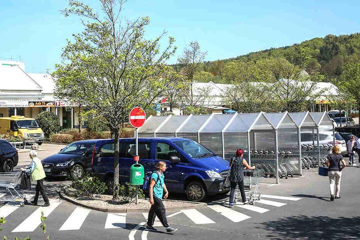 Am Weißeritzpark in Freital verlief sich die Spur der Täter.