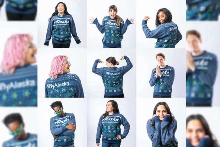 Die Airline verkauft auch selbst hässliche Pullover im weihnachtlichen Design.
