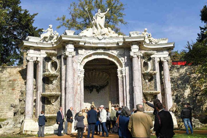Rund fünf Jahre lang wurde die 261 Jahre alte Neptungrotte im Schlosspark Sanssouci aufwendig saniert.