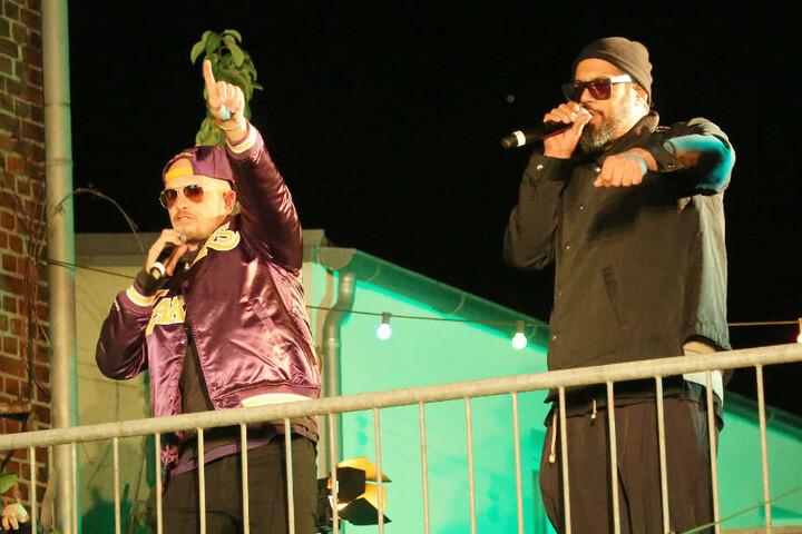 Prominente Hilfe: Auch die Musiker Jan Delay (links) und Sammy Deluxe setzen sich für den Erhalt des Künstlerquartiers ein.