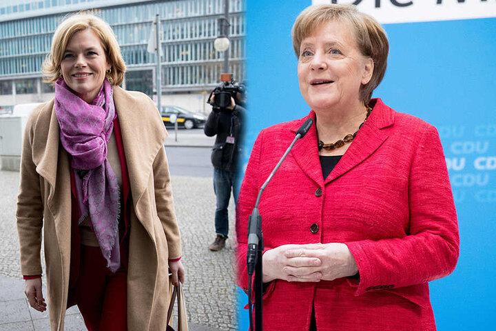 Julia Klöckner (45, CDU) und Bundeskanzlerin Angela Merkel (63, CDU) halten nichts von Änderungen.