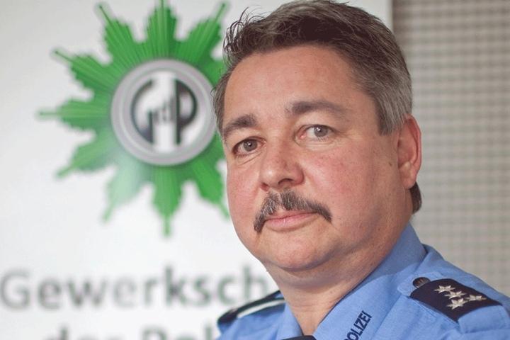 Polizeigewerkschafter Hagen Husgen (52) schrieb einen Protestbrief an  Ministerpräsident Stanislaw Tillich.
