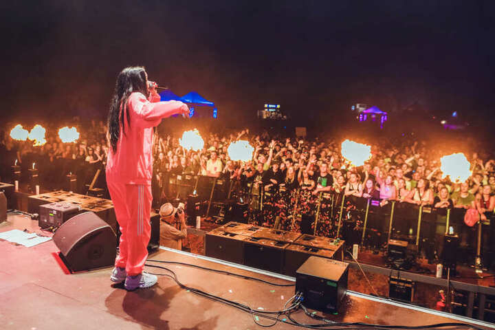 """Juju beim """"Break the Rules""""-Festival in Boxberg/Sachsen im Sommer 2019."""