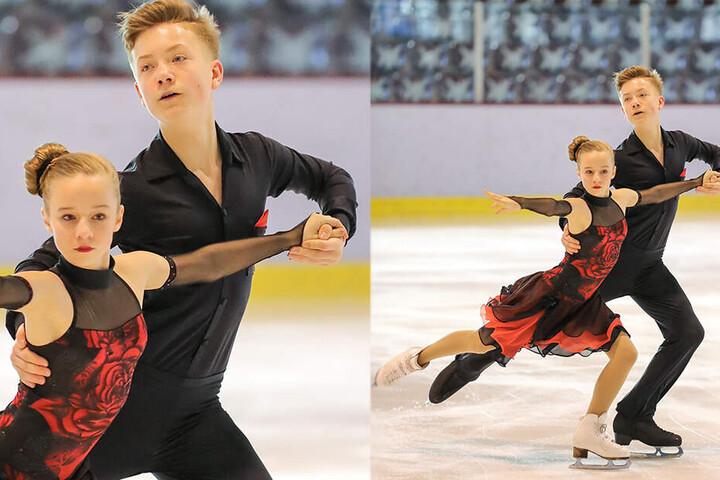 Seit drei Jahren trainieren Piero und Emilie zusammen. Auf dem Eis harmoniert das Paar perfekt.